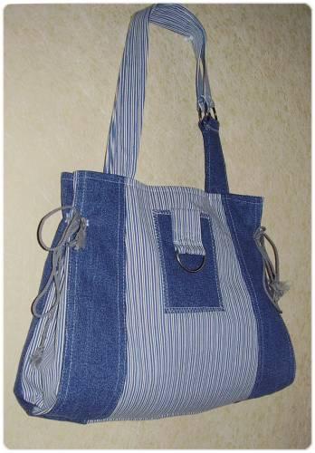 Пляжная сумка из джинсовой ткани своими руками 3