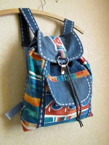 Как украсить джинсовый рюкзак фото